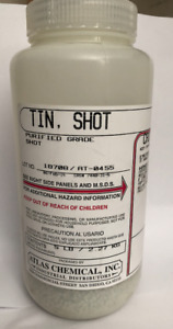 Tin Metal Purified Shot 5 Lb 2 26 Kg Atlas Chemical