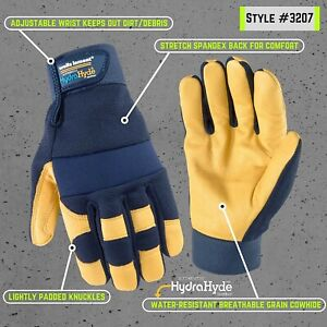 Work Gloves Hydrahyde 3 Pairs Brand New Sealed Box