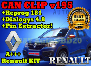 Renault 4 In 1 Kit Can Clip V195 Reprog 181 Dialogys 4 7 Pin Extractor