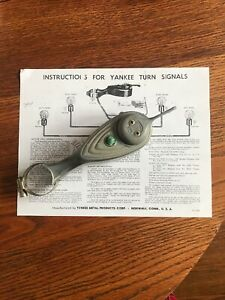 Instructions Only Vintage Yankee 960 Turn Signal Switch Hot Rod Rat