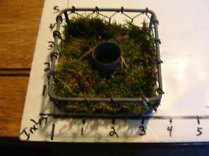Small Wire Ware Candle Holder With Moss Odd