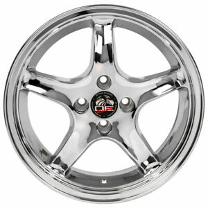 17 Inch Chrome Wheel For 79 93 Ford Mustang rear Only Cobra Rim 4 Lug 108mm