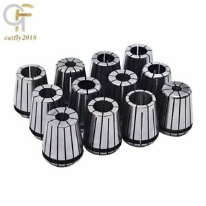 12pcs Er32 Spring Collet Set For Cnc Workholding Engraving Milling Lathe Tool