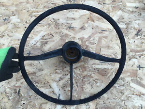 1958 1959 Chevrolet Truck Steering Wheel Original Column Upper Patina Pickup Wow