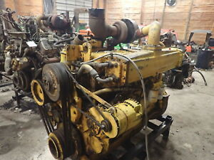 Allis Chalmers 6138t Turbo Diesel Engine Runs Exc Rare Scraper 25000 Big Al