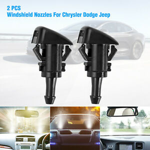 2x Windshield Washer Fluid Nozzle For Chrysler 300 Dodge Ram 1500 2500 2005 2013