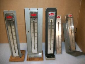 Lot Of 5 Dwyer Scfh Air Meter 4 Go To 400 1 Goes To 50
