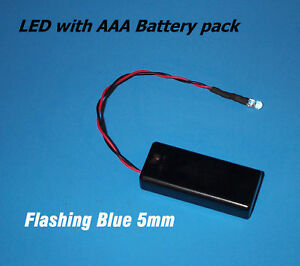 Blue Blinking 5mm Led With Aaa Battery Pack Switch halloween Projects Diy