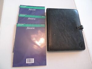 Deskfax By Filofax vintage Leather Planner dx1 Clf 7 8 With Inserts Made Uk
