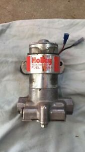 Fuel Pump And Filter Holley Red Electric
