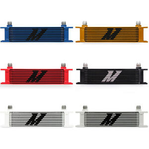 Mishimoto Mmoc 10rd Universal 10 Row Oil Cooler Red