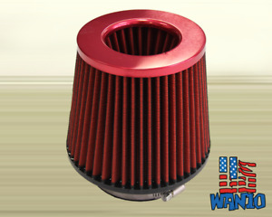 4 Inch Dry Cone Style Performance Air Filter For Cold And Short Ram Intakes Red
