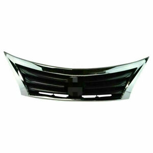 For 2013 2015 14 Nissan Altima Front Bumper Grille Upper Grill Assembly Chrome