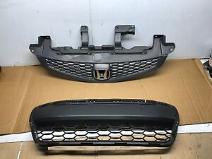 2012 2013 Honda Civic Coupe Grill With Emblem And Lower Bumper Grille 12 13
