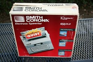 Smith Corona 450 Dld Electric Typewriter Model Tested Works Vintage In Box