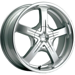 15x7 Pacer 774ms Reliant Silver Wheels Rims 40 5x100 5x4 50 Qty 4
