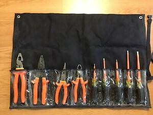 Salisbury Pro tools Electrician s 9 Piece Insulated Tool Kit tk9