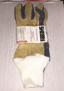 Shelby Pigskin Wildland Fire Fighting Gloves Model 5002 Size J Made With Kevlar