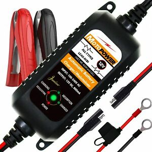 12v Smart Battery Charger Tender Maintainer For Car Motorcycle Atv Boat Truck Tr