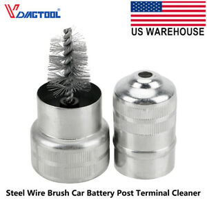 Usa Car Battery Post Terminal Cleaner Dirt And Corrosion Brush Hand Clean Tool