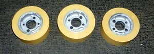 Accura comatic Ro 08 Power Stock Feeder Roller Wheels 30mm X 80mm Set Of 3