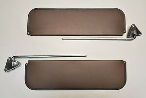 New 1955 1959 Chevrolet Truck Repro Brown Sun Visor Bracket Set