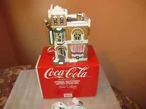 Dept 56 Snow Village COCA-COLA CORNER DRUG STORE (NICE)