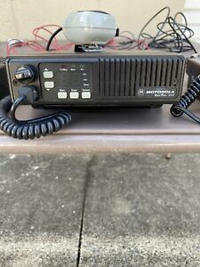 Used Vtg 1989 Motorola Maxtrac 300 32ch Vhf 2 way Radio With Antenna