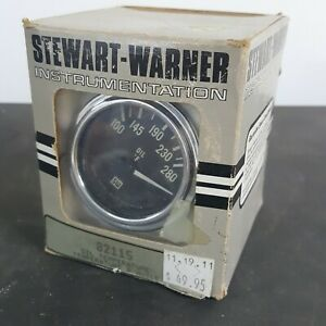 Stewart Warner Oil Temperature Gauge 826545 Hot Rod