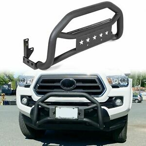 For 2005 2021 Toyota Tacoma Front Bumper Grille Guard Textured Black Bull Bar