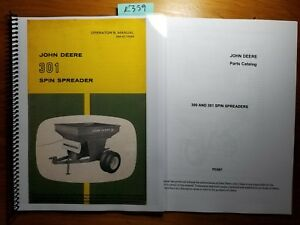 John Deere 301 Spin Spreader Owner Operator Manual Om c17594 J5 65 Parts 70