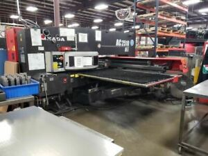 22 Ton Amada Ac2510nt Cnc Turret Punch 2009 48 X 100 Table 45 Stations