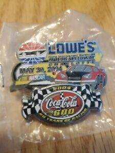 May 30  2004  Charlotte   Coca Cola 600  Lowes  Nascar Racing Pinback
