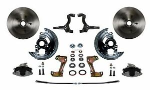 Gm Afx Body Front Disc Brake Conversion Kit Calipers And Rotors New