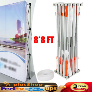 8 8 Ft Trade Show Booth Pop Up Booth Tension Fabric Display Backdrop Frame