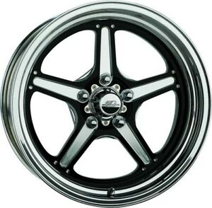 Billet Specialties Street Lite Wheel Black 15x4 1 625in Bs Brs035406516n