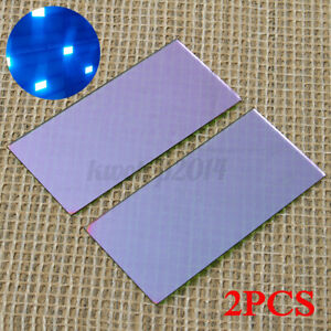 2x Blue Welding Lens 2 X 4 25 With Hardened Gold Filter For Welding P