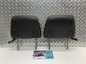 07 14 Lincoln Navigator Rear Seat 2nd Row Headrest Set Head Rests Black Brown