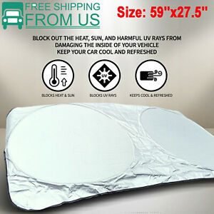 Car Windshield Sun Shade Auto Sunshade Visor Reflective Uv Block Protection Us