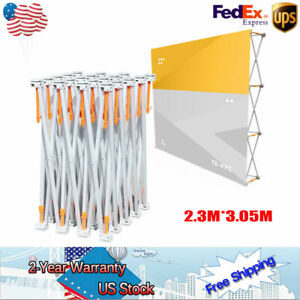 Portable Tension Pop up Booth Frame Trade Show Display Stand For Annual Meetings