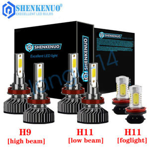 For Jeep Grand Cherokee 2019 2020 Combo H9 H11 Led Headlight H11 Fog Bulbs Kit