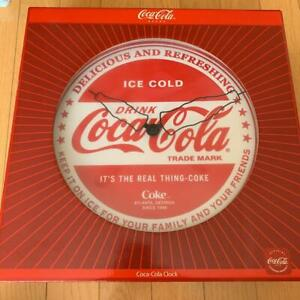 Coca cola wall clock New unused item with case box instruction manual from japan