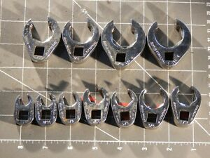Snap On Tool 11pc Sae 3 8 Dr Flare Nut Crowfoot Wrench Set 3 8 3 4 13 16 1 6pt