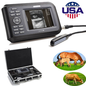 Digital Handheld Ultrasound Scanner Machine Animal Rectal Probe Veterinary Usa