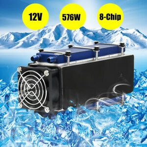 12v 8 chip 576w Tec1 12706 Thermoelectric Cooler Radiator Air Cooling Device