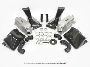 Ams Alpha Intercooler Kit W Cf Shrouds For 13 15 Porsche 911 Turbo Turbo S 991 1