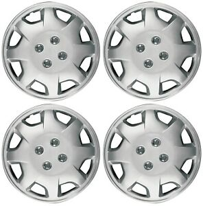 New Set Of 4 15 Silver Wheel Covers For Honda Accord 1998 2002 Hub Caps Hubcaps