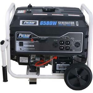 Pulsar 6 580 Watts Gas powered Portable Generator Electric Start Pg6580e