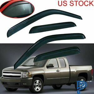 Vent Guard Shade Window Visors For Chevy Silverado gmc Sierra 99 06 Extended Cab
