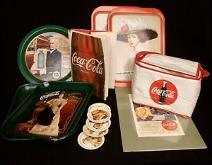 COCA COLA LOT Tray Cooler Coasters Book 75th Anniversary Vintage 70s Huge Lot